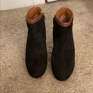 Leather / suede booties